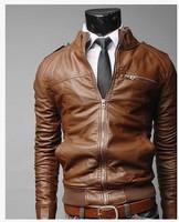 мужчины в полиуретан кожа пальто 2 цвета 4 размеры кожа куртка, гонки куртка, кожа спорт костюм
