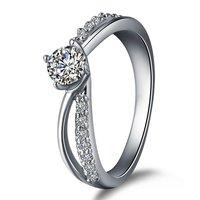 настоящее очень Серра тела 925 кольца для женщин девушки с 0.33 карат носит Alma ювелирные изделия новый