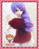 мода! фиолетовый волнистые парик для БЖД 1/3 супер София, фолкс, снмп, ДОД БЖД / куклы, блайт ) парик fyd-t111g - # t3815