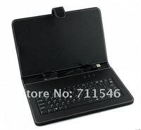 бесплатная доставка 10 дюймов планшет кожаный чехол с интерфейсом USB клавиатура для планшет пк