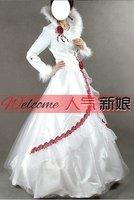 высокое качество Уэйд платье длиной до пола платье невесты вернуться щетка-поезд без рукавов Beetle с летучая мышь цветок 082