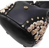 новое прибытие ретро заклепки кожа женщины кисточкой сумки модные сумки женщин бренд дизайн плеча сумку wlhb449