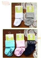 24 шт. = 12 пар/лот детские хлопок носки, дети чулок 4 размеры для 0 - 3 лет, бесплатная доставка, aep09-w1201