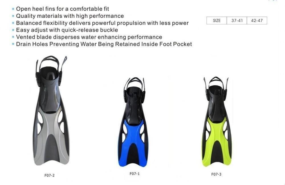 ф07-2 подводное с коротким погружения плавники для взрослых желтый, синий, серый розовый 4 цветов + п . п . ласты материал бесплатная доставка