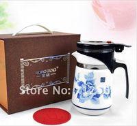 620 мл керамический чайник, кружка керамическая, с фильтр, простой в использовании, бесплатная доставка + РБ-46200