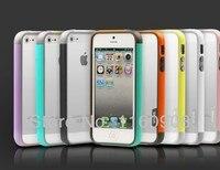 1 шт. zenus walnutt для iPhone 5 и двухслойные [ Trio ] костюм тонкий бампер чехол для iPhone 4 и 4S 5 5С бесплатная доставка