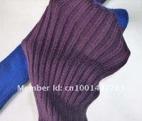 новый 55 см длинные тонкие стиль лоскутное 3 цвета-черный + серый, розовый + желтый, фиолетовый + blueleg вязаные носки чулки теплее широкий куча