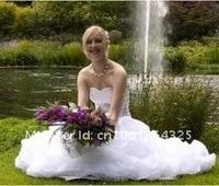 новинка сексуальное без бретелек тюль черный и белый с коротким свадебные платья