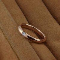 высокое качество женская круг роуз кристалл кожа кольцо титана стали кольцо для свадьбы