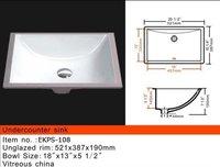 купч / кка сертификации керамическая мойка / ванной встройной