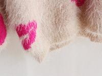 бесплатная доставка осень зима новый 4 цвет мода теплый удобный мохер губы широкий с длинными рукавами футболки вязаный свитер
