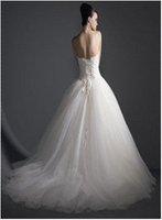 на wd0302 заказ горячий-продажа бальное платье аппликации и бисером свадебное платье из органзы