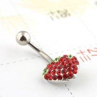 artilady красное в форме сердца кристалл нос шпильки тело пирсинг пупка бар круглой круговые штанги ювелирных изделий