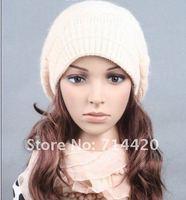 ac001 женщины кролика меховая шапка вязаная шапка зимняя шапка берет качество шляпа