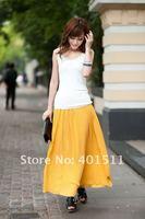 с2005 100% гарантия качества новый шелковый макси с юбка в складку полный подкладка большой размер прямая поставка поддержка