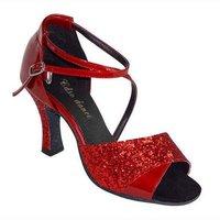 леди в танцевальный зал обувь / латинский танец обувной женщины, сальса обувной, шпильки, принт вашего логотипа в обувь