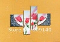 бесплатная доставка новая картина розы маслом на холсте высокое качество ручной росписью домашнего декора стены искусства галерея