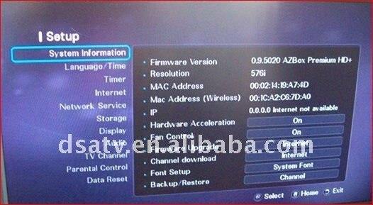 Прошивка Azbox Premium HD