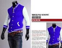 ho003 зима мода мужская бейсбол знак pached тонкий свободного покроя худи куртка 4 размер 4 цвет бесплатная доставка