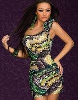 5 от за 50 $ заказ пера павлина печать женская платье сексуальное клубные платье, yf2527 4 шт./лот 4 стили