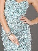 бесплатная доставка известный дизайнер милая бисером тюль русалка полный роскошью кристалл побрякушки выпускного вечера платье