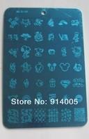 номер хl размер mls07-10 4plates168 конструкции plains ногтей Stamp изображение знака не конад равнины, новые конструкции