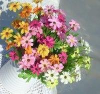 украшение, высокая моделирование цветок из шёлка / искусственный шелк цветок, маргаритка компактный