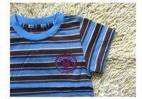 бесплатная доставка от 0 до 3 лет ребенок футболка хлопок полосатой рубашке с короткими рукавами в лето