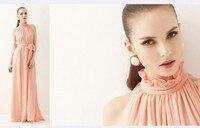 лето отличное качество, элегантный мода Seal рос Chef line макси платье бесплатная доставка