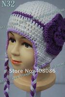 продвижение! 100% хлопок младенца вязания крючком шляпы вязать шапки самый симпатичный животных новые поступления ребенка рождественский подарок