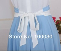 новинка женщин леди с Корк рукавом Romantic splicing красивая Chef мини платье с пос принцесса юбка бесплатная доставка