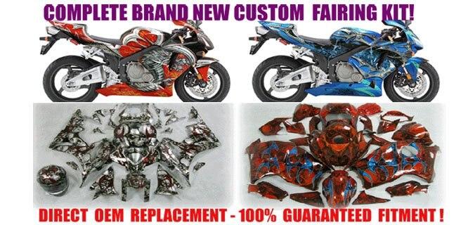 ninja 250r zx 250r 2007 2009 bodywork fairing kit black scheme-in