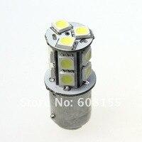 бесплатная доставка оптовая продажа 100 шт. 1156 BA15s из 13 смд 5050 Chip тормоза кабеля света белого из светодиодов авто Лампа свет