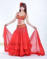808 танец живота костюм 2 шт. или 3 шт. сексуальное профессиональный танец живота носить красный цвет