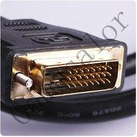 Foot 1, 5 м золото DVI и через часть к HDMI с кабель для телевидение высокой чёткости жк-дисплей # 9949