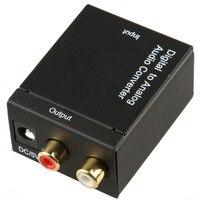 цифровой оптические toslink В или с SPDIF-аналогии д / р и RCA аудио конвертер адаптер