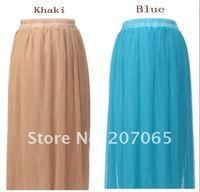 высокого класса деформации с кружевной сетки пряжа / женское платье, длинные юбки, дамы юбки 7 цвет