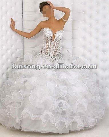 Abiti da sposa con bustino trasparente