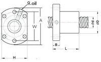 2 анти зазор швп rm2005-800/1500 мм ходового винта и 4 ballnuts + обработка концов