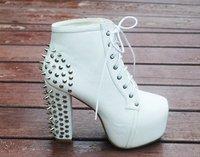 бесплатная / прямая поставка, новости, кружево -, платформа туфли на высоком каблуке, ботинки для женщин, туфли, туфли на каблуках, заклепки, sxx04003