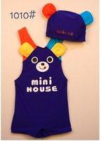 горячая распродажа мальчиков купальники медведь дизайн плавание костюм мальчиков 10 шт./лот