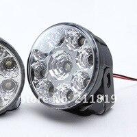 одна пара 9 светодиоды своими руками из светодиодов автомобиль DRL фары фары дневного света DC 12 в белый лампа ДРЛ лампа