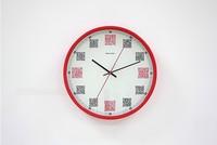 Nest часы, штрих код времени, белый / черный / красный / серебро, металлический круг, новинка пункт, большой подарок