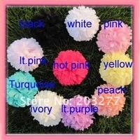 бесплатная доставка! 12 шт./лот 4 дюймов новые шифон ткани цветы 10 цветов для вашего выбора