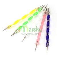 бесплатный судовой 5х мрамор мрамор расставить ручка инструменты / 2 разъём ногтей украшения комплект инструментов # 1719
