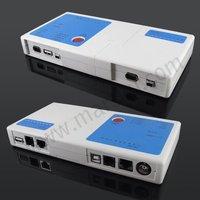 многофункциональный RJ45 и RJ11 и USB BNC на кабель тестер # 875