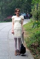 бесплатная доставка настоящее фото кот элегантно одетый платье платья - линия длиной до цветы Cole