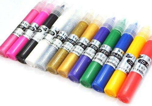 Freeshipping 12 colors nail art pen set for 3d nail art diy freeshipping 12 colors nail art pen set for 3d nail art diy decoration wholesales sku prinsesfo Images