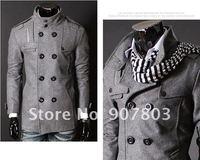 мужчины в куртки мужчины плащ ветровка пальто ветровка куртка черный темно-серый МВт-038