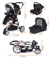 внутренний Ross 3 в 1 черный колы и колы с Ева колеса, детские колы и буду детские и детское автокресло для путешествия